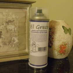 Spray Kόλλα Decoupage Λευκή - El Greco